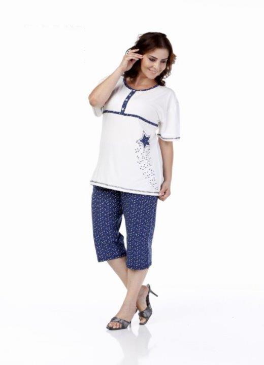 Пижама женская капри Metin 9999