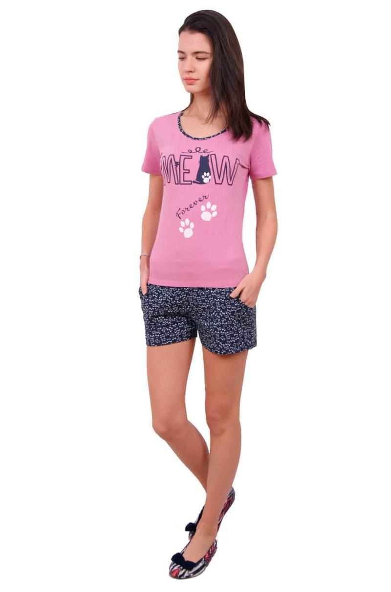 Пижама женская шорты Nicoletta 80640