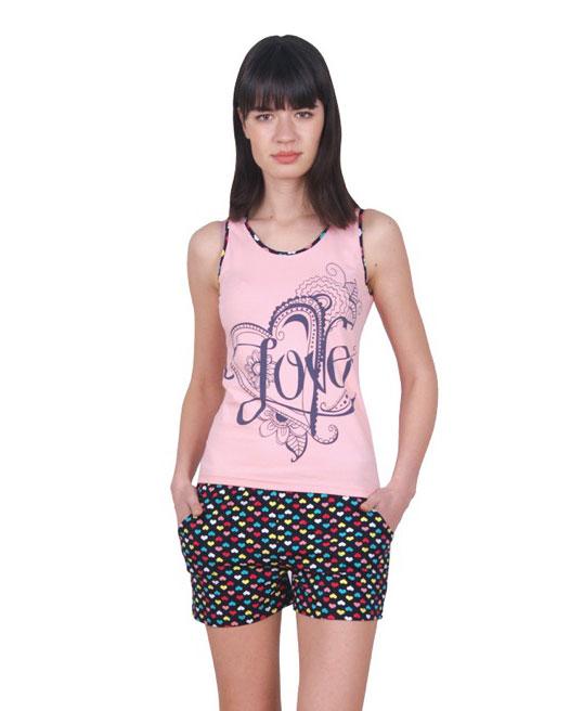 Пижама женская шорты Nicoletta 80690