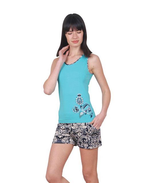 Пижама женская шорты Nicoletta 80692