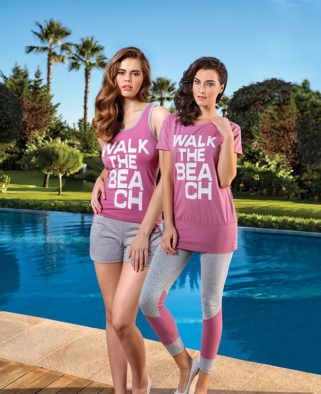 Пижама женская шорты BRK 2895 S-M