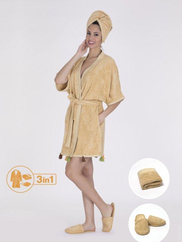 Набор женский Hays халат+полотенце 16581-В121
