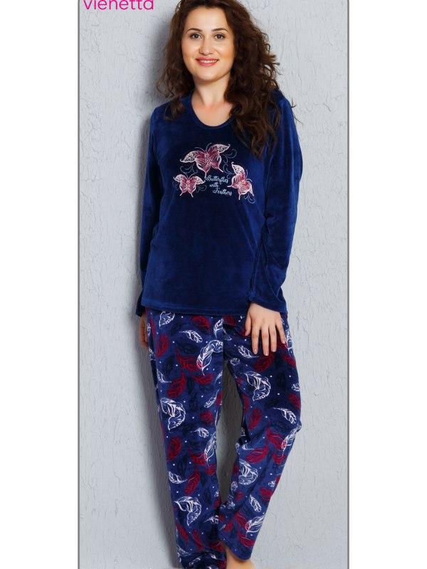 Пижама женская Велюр 7040144656