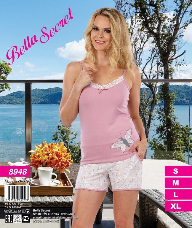 Пижама женская шорты Metin 8948
