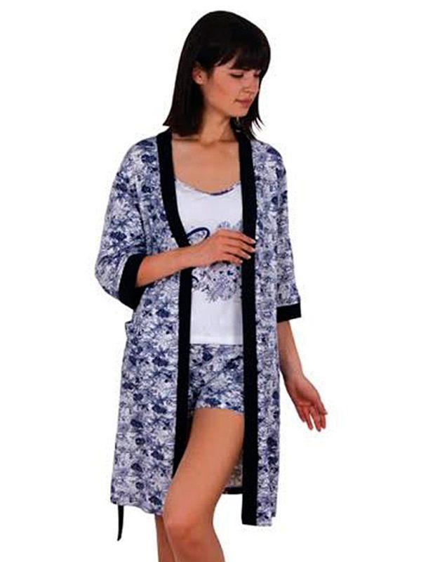 Набор халат пижама шорты