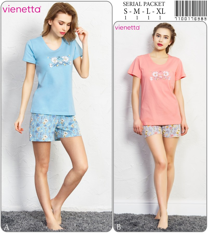 Пижама женская шорты 7100176989