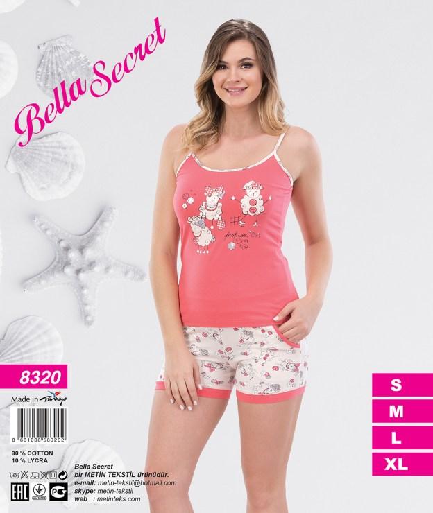 Пижама женская Шорты Metin 8320