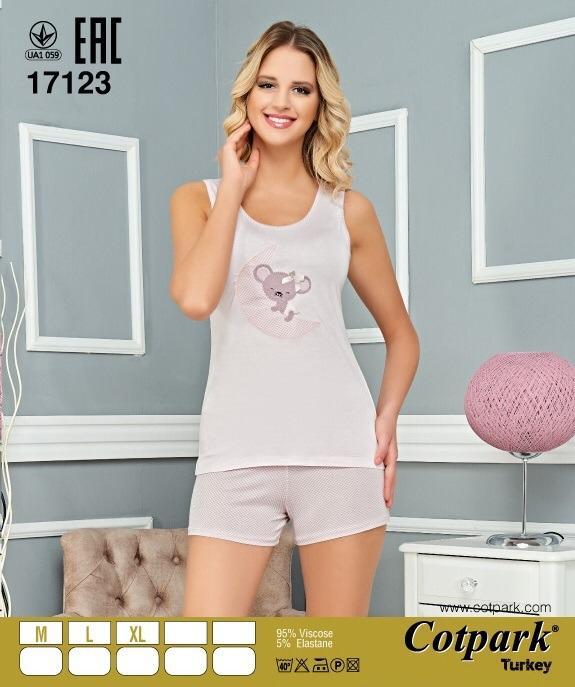 Пижама женская шорты Cotpark 17123
