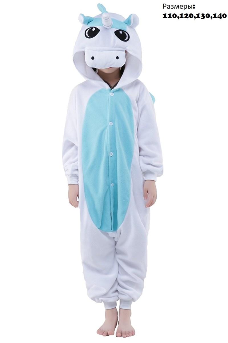 Кигуруми Детский Единорог blue