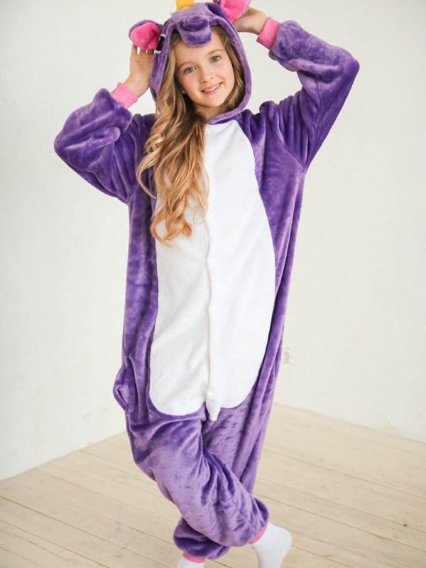 Кигуруми Детский Единорог Purple