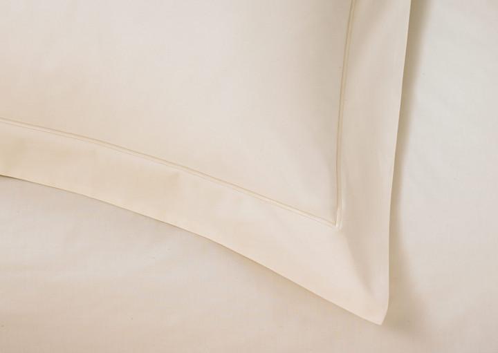 ivory sateen pillow shams