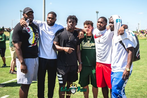 126 - USF Spring Game 2018 - USF RB D'Ernest Johnson Darius Tice Jeremi Hall Quinton Flowers by Dennis Akers | SoFloBulls.com (4469x2983)