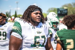 128 - USF Spring Game 2018 - USF OL Hal Roberson by Dennis Akers | SoFloBulls.com (5515x3682)