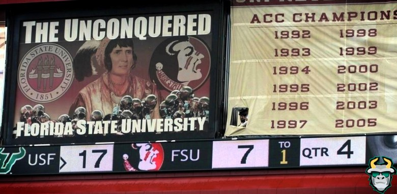 USF Football's Historic Wins - Florida State 2009 - Scoreboard by Matthew Manuri SoFloBulls.com