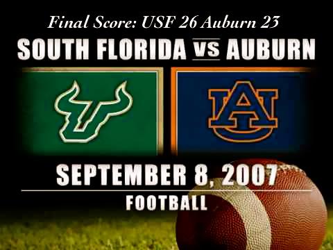 Historic Wins - 2007 Auburn OT Thriller | by Matthew Manuri | SoFloBulls.com |