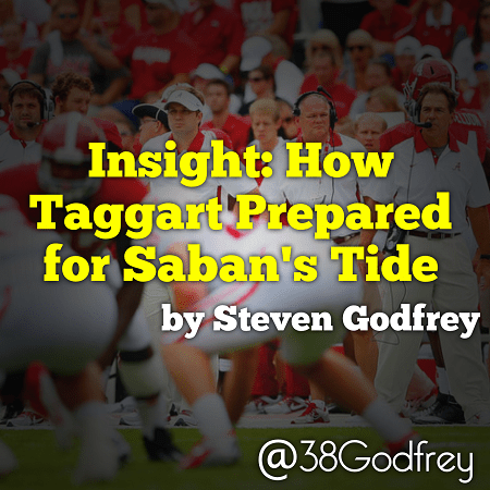 Insight: How Taggart Prepared for Saban's Tide