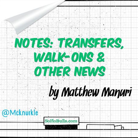 Notes: Transfers, Walk-ons & Other News by Matthew Manuri