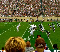 The Spartan Showdown   Game Shot on the 50-yard Line   SoFloBulls.com  