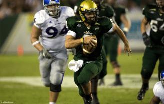 USF QB Matt Grothe evades tacklers II   Kansas 2008