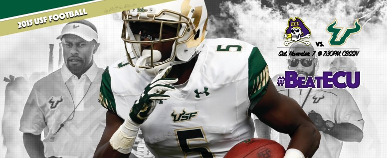 #BeatECU 2015 USF Football Facebook Cover Image by Matthew Manuri (3568x21462)