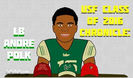 USF Class of 2016 Chronicle-LB Andre Polk by Matthew Manuri - SoFloBulls.com FINAL (438x260)