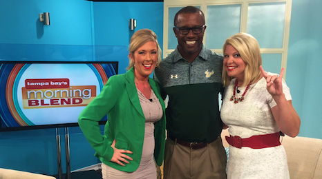 Video-USF Coach Willie Taggart Joins Tampa Bay's Morning Blend SoFloBulls.com FI (466x260)