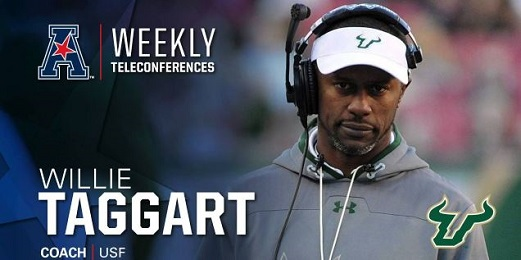 AAC Teleconference Week Four-USF Head Coach Willie Taggart FI (521x260)