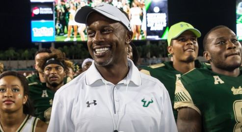 USF Head Coach Willie Taggart Post-game NIU 2016 (1009x547)