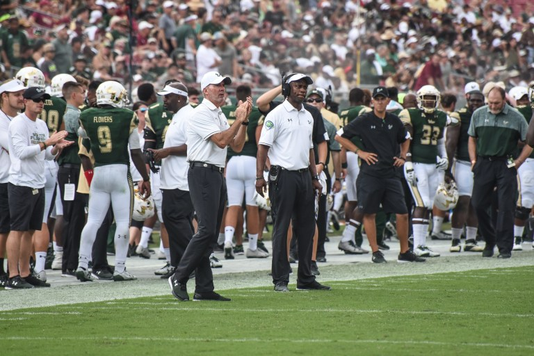 FSU vs USF 2016 105 - Willie Taggart on the sideline by Dennis Akers (4461x2974)