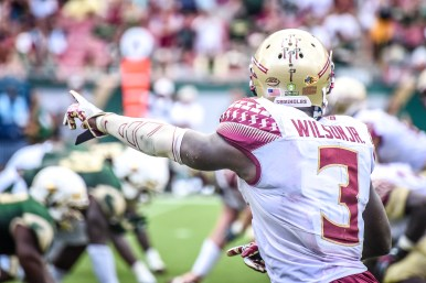 FSU vs USF 2016 91 - Jesus 'Bobo' Wilson on the line by Dennis Akers (4512x3008)