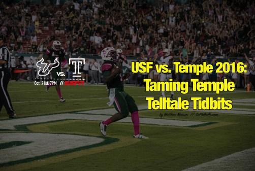 USF vs. Temple 2016-Taming Temple Telltale Tidbits by Matthew Manuri | SoFloBulls.com (6016x4016)