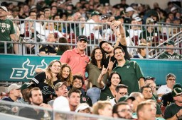 110 - Navy vs. USF 2016 - Akers Family: David, Rudy, Dustin, & Debbie Michaud Akers by Dennis Akers | SoFloBulls.com (3936x2624)