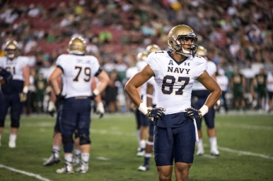 64 - Navy vs. USF 2016 - Navy WR Brandon Colon by Dennis Akers | SoFloBulls.com (6016x4016)