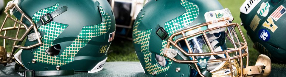 New 2016 USF Helmets for No. 22 Navy Header Image by Matthew Manuri | SoFloBulls.com (960x261)
