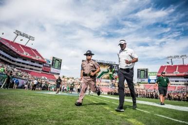 65 - USF vs. UCF 2016 - USF HC Willie Taggart jogs off the field #WarOnI4 by Dennis Akers | SoFloBulls.com (5767x3850)