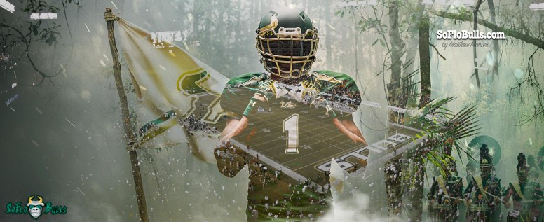 #BullsUnite USF Football Facebook Cover Image 2016 by Matthew Manuri SoFloBulls.com (3568x1462)