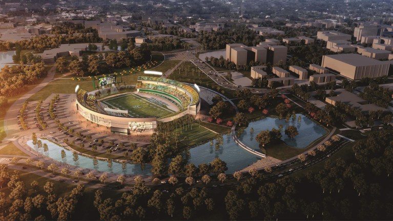 #USFOCS USF On-Campus Stadium Concept - Zone 1 - Revised with Berm (5100x2871) (08.08.2017)