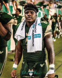 170 - Temple vs. USF 2017 - USF RB D'Ernest Johnson by Dennis Akers | SoFloBulls.com (3742x4677)