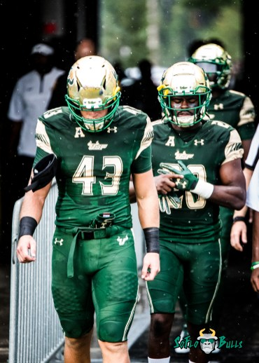 4 - Stony Brook vs. USF 2017 - USF LB Auggie Sanchez Devin Abraham by Dennis Akers | SoFloBulls.com (2604x3645)