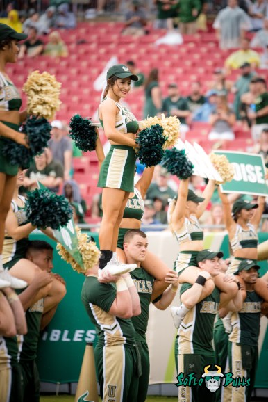 46 - Stony Brook vs. USF 2017 - USF Cheerleader by Dennis Akers | SoFloBulls.com (4016x6016)
