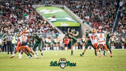 70 - Illinois vs. USF 2017 - USF K Jonathan Hernandez Punting by Dennis Akers | SoFloBulls.com (4248x2410)