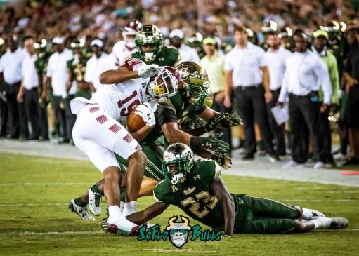75 - Temple vs. USF 2017 - USF DB Mazzi Wilkins Auggie Sanchez by Dennis Akers | SoFloBulls.com (3897x2784)