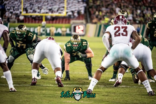 90 - Temple vs. USF 2017 - USF OL Marcus Norman Billy Atterbury by Dennis Akers | SoFloBulls.com (5959x3978)
