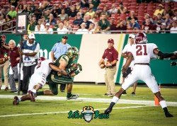 91 - Temple vs. USF 2017 - USF TE Mitchell Wilcox by Dennis Akers | SoFloBulls.com (5184x3703)