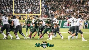 117 - Cincinnati vs. USF 2017 - USF DT Bruce Hector Auggie Sanchez by Dennis Akers | SoFloBulls.com (5358x3014)