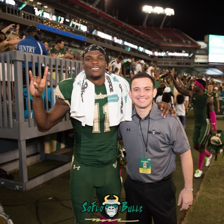 USF WR Marquez Valdes-Scantling and Matthew Manuri