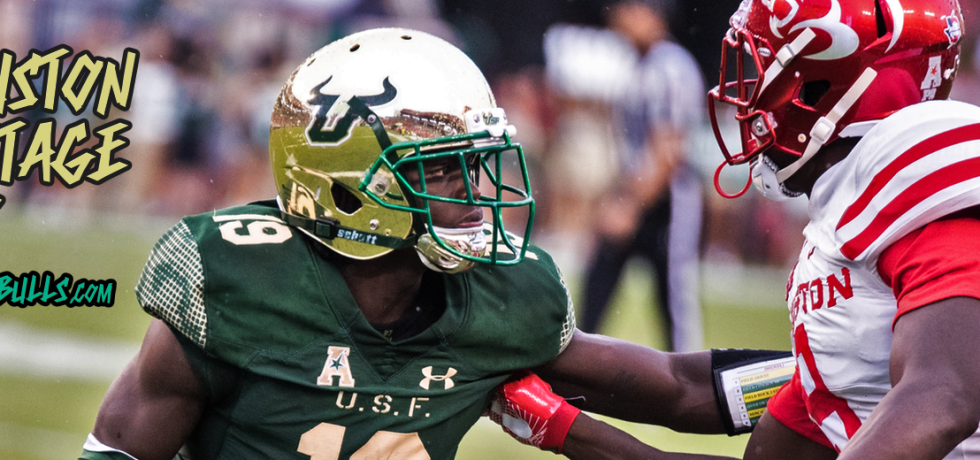 Houston vs. USF 2017 Photo Montage ReCap Ronnie Hoggins by Dennis Akers Article Header Image | SoFloBulls.com (1920x520)