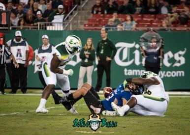 112 - Tulsa vs. USF 2017 - USF DE Juwuan Brown Josh Black by Dennis Akers | SoFloBulls.com (3084x2203)