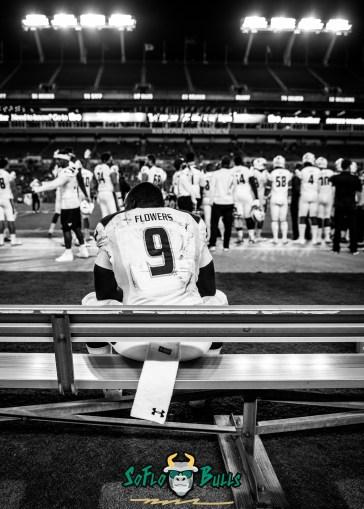 131 - Tulsa vs. USF 2017 - USF QB Quinton Flowers Black and White by Dennis Akers | SoFloBulls.com (3361x4705)