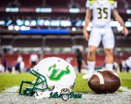 49 - Tulsa vs. USF 2017 - USF Football SoFlo Helmet on Field by Dennis Akers | SoFloBulls.com (4501x3601)
